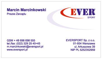 wizytówka dla Eversport
